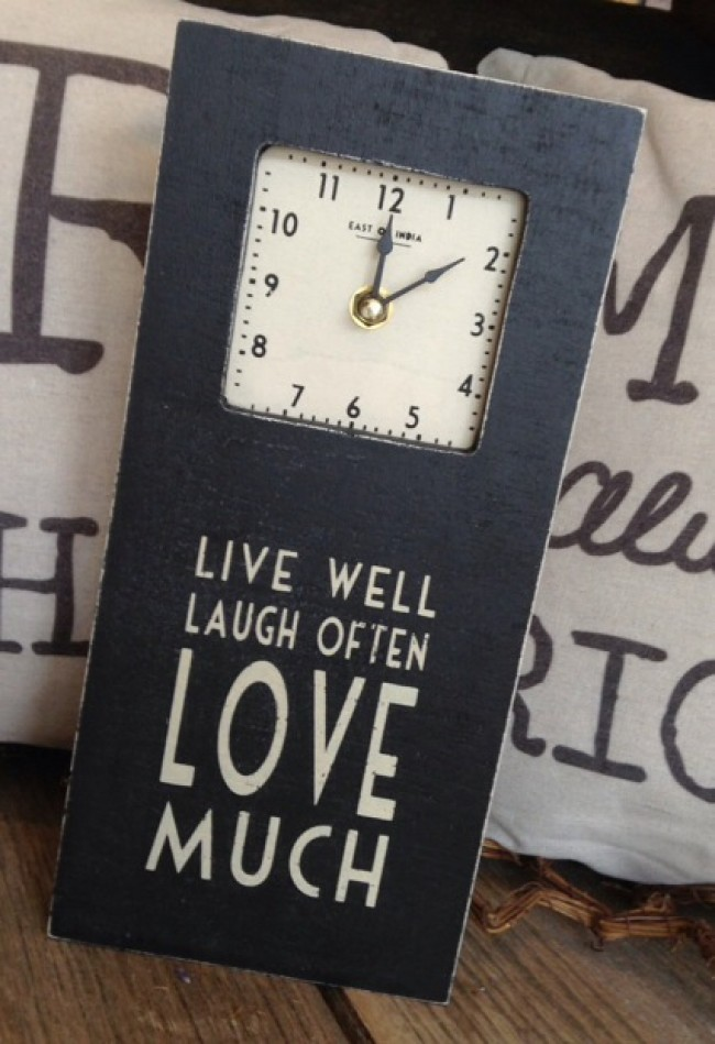 East of India Live Well, Laugh Often Clock